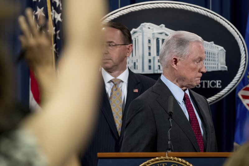 Jeff Sessions, Rod Rosenstein