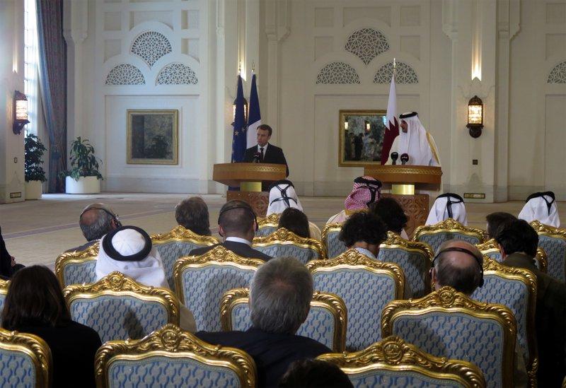Emmanuel Macron, Tamim bin Hamad Al-Thani