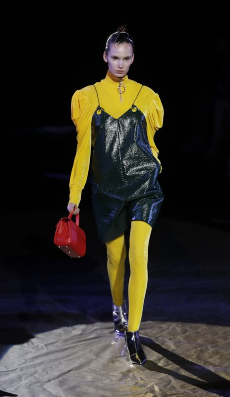 d92ea66e7 A model wears a creation part of Annakiki women's Fall/Winter 2017-2018  collection, presented during the Milan Fashion Week, in Milan, Italy,  Wednesday, ...