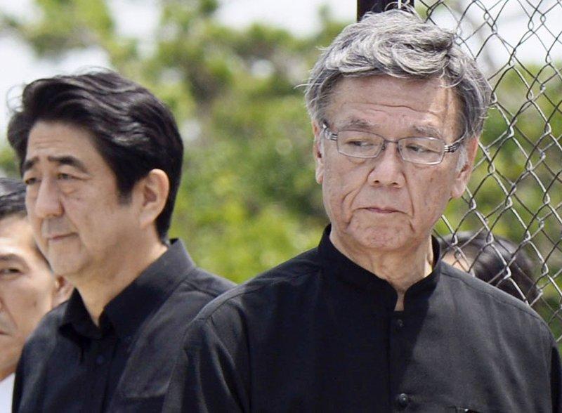 Takeshi Onaga, Shinzo Abe