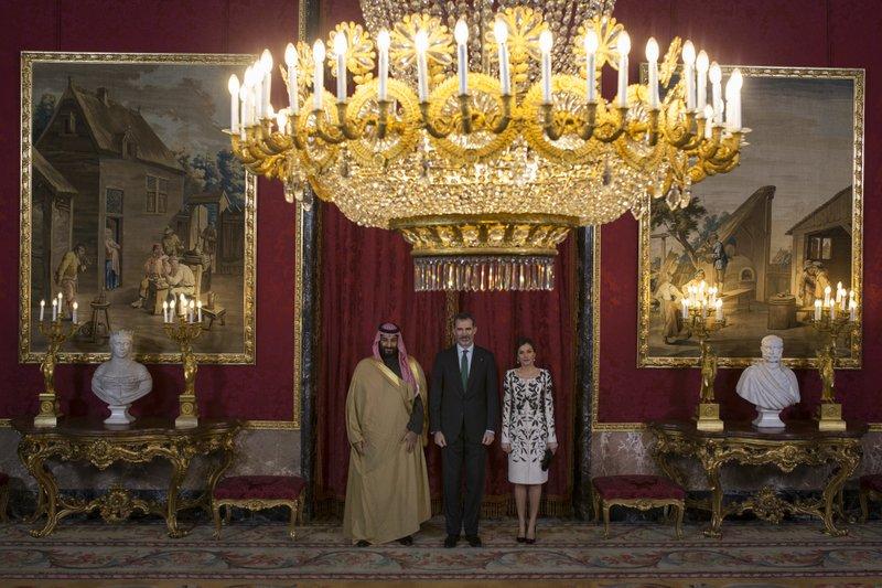 Prince Mohammed bin Salman Al Saud, King Felipe, Queen Letizia
