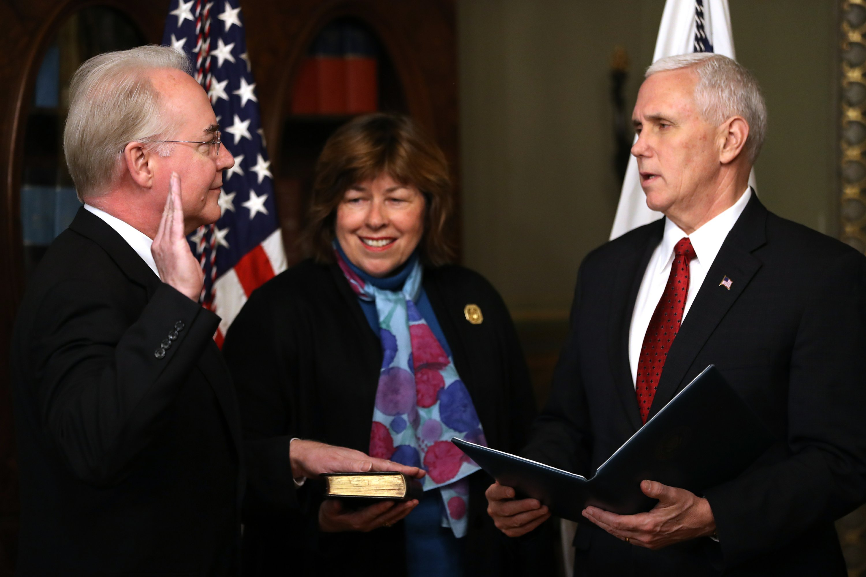 Trump's pick for health and human secretary takes office