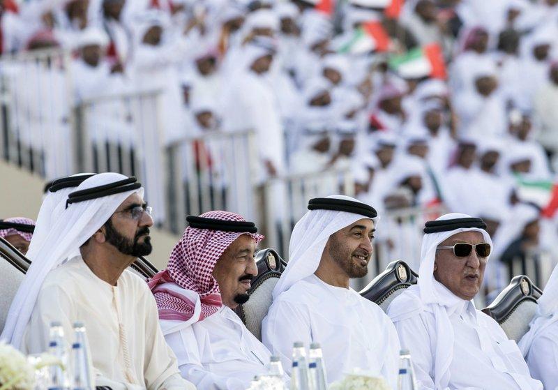 Salman, Mohammed bin Rashid Al Maktoum, Mohamed bin Zayed Al Nahyan