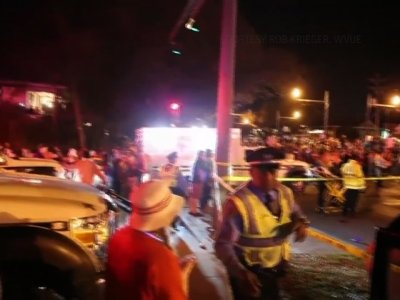 Several Hurt as Truck Hits Mardi Gras Crowd