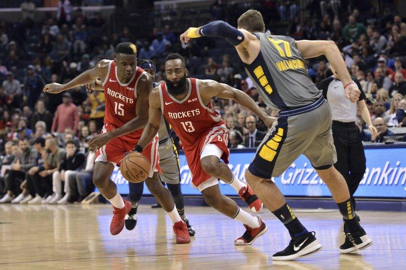 382e9e0f642f Harden scores 57 but Grizzlies top Rockets 126-125 in OT