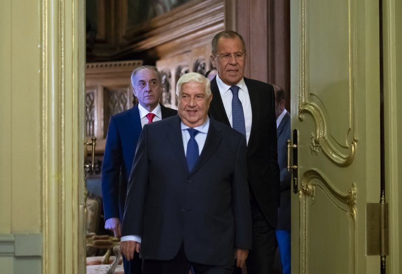Walid Muallem, Sergey Lavrov