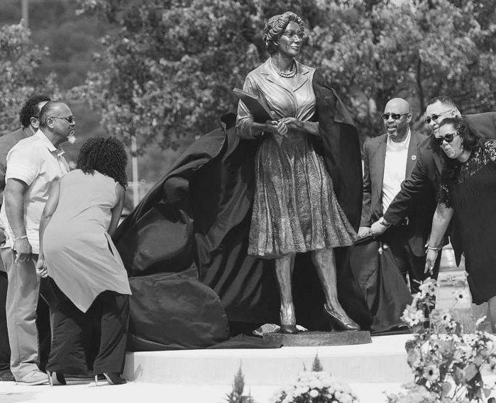 Katherine Johnson immortalized with statue on campus of WVSU