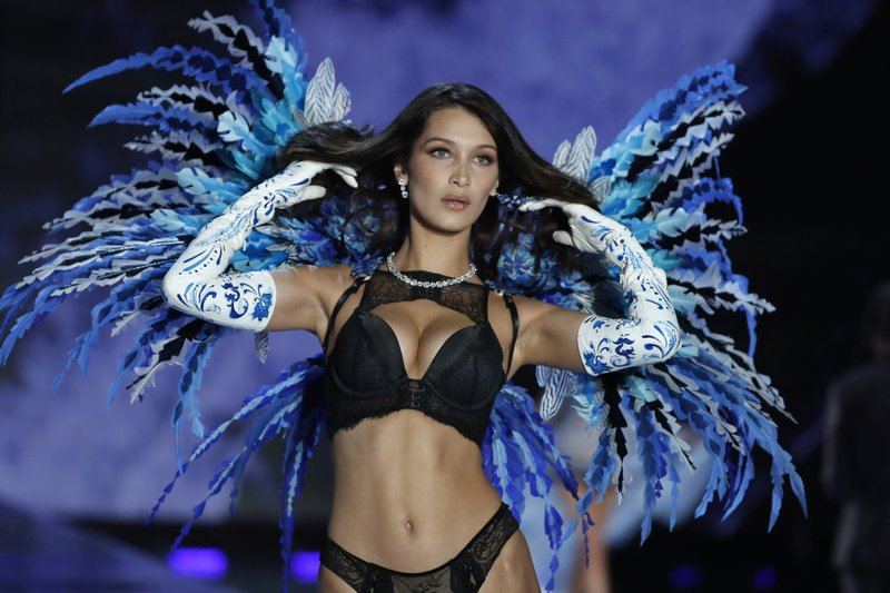 ad0f4bfe1d Model Bella Hadid wears a creation during the Victoria s Secret fashion show  at the Mercedes-Benz Arena in Shanghai