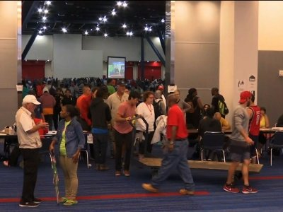 Houston Convention Center Shelter Filling Up Fast