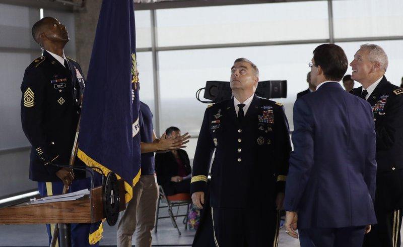 Michael Crosby, Gen. Mark A. Milley, Gen. John M. Murray, Mark Esper