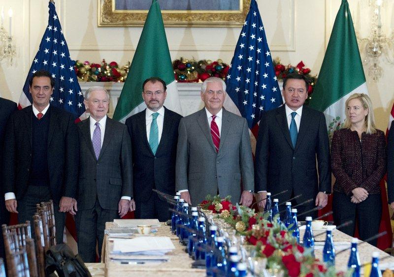 Alberto Elias Beltran, Jeff Sessions, Luis Videgaray, Rex Tillerson, Miguel Osorio, Kirstjen Nielsen
