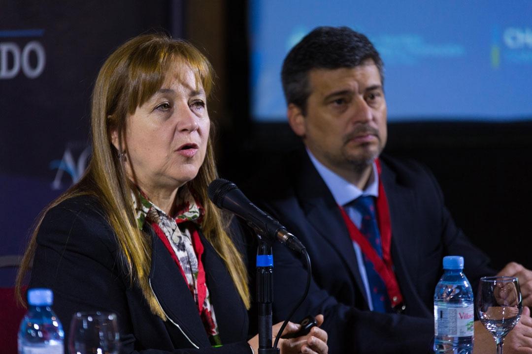 M. Elina Serrano - Sria. de Inversiones, Asuntos Int. y Prom., Marcelo Repetto - Mtro. De Pdcción, Chaco.