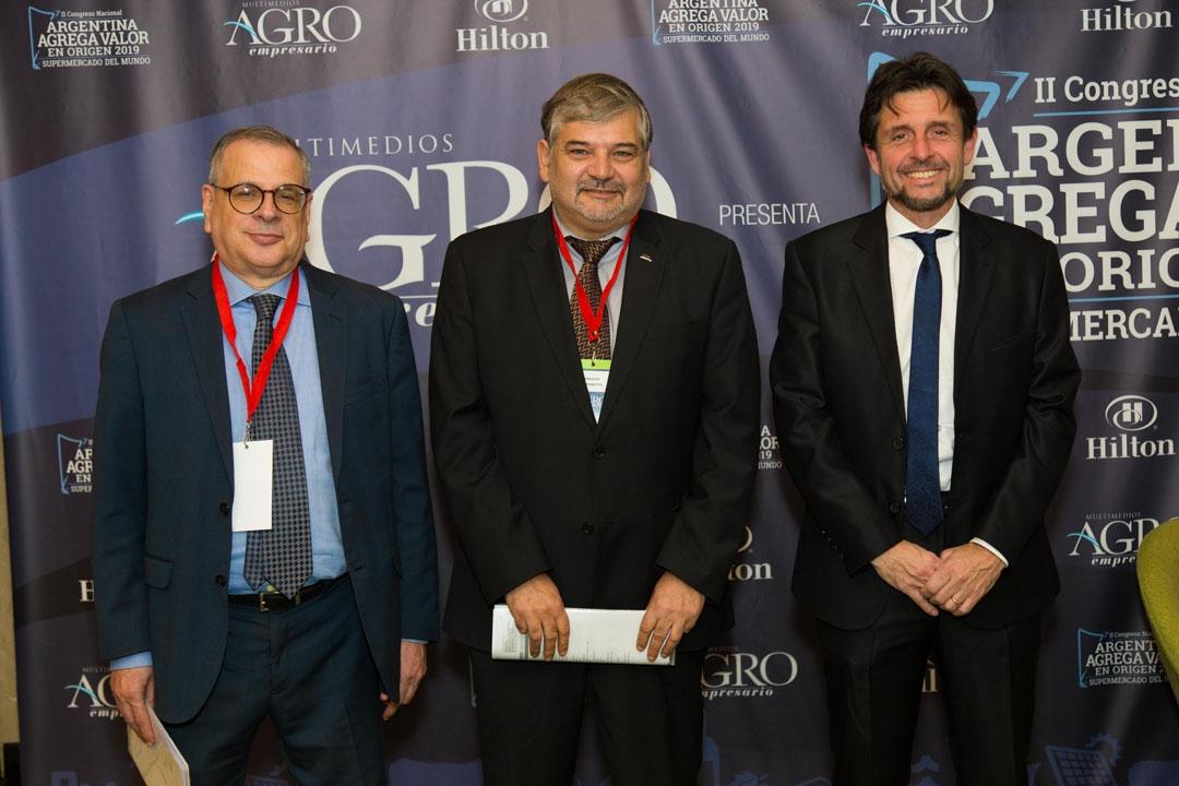 Ariel Aguilar - Pte. de la CIMA, Daniel Argentino - Pte. de la ACUBA y Horacio Moschetto - Sec. General de la CIC