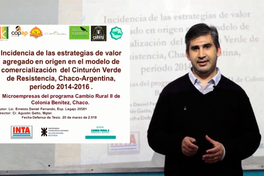 Daniel Ferrando - Autor de la Tesis Maestría en Negocios de la UTN, Chaco