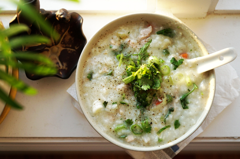 rice porridge also known as congee