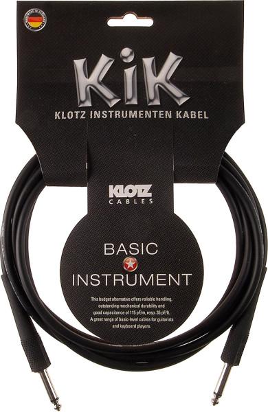 Klotz KIK Instrumentenkabel 3m schwarz