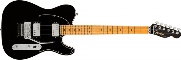 Fender American Ultra Luxe Telecaster HH Floyd Rose Mystic Black/MN