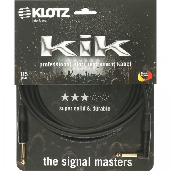 Klotz KIKKG Instrumentenkabel 9m Winkel schwarz