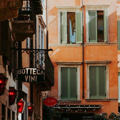 aged italian piazza