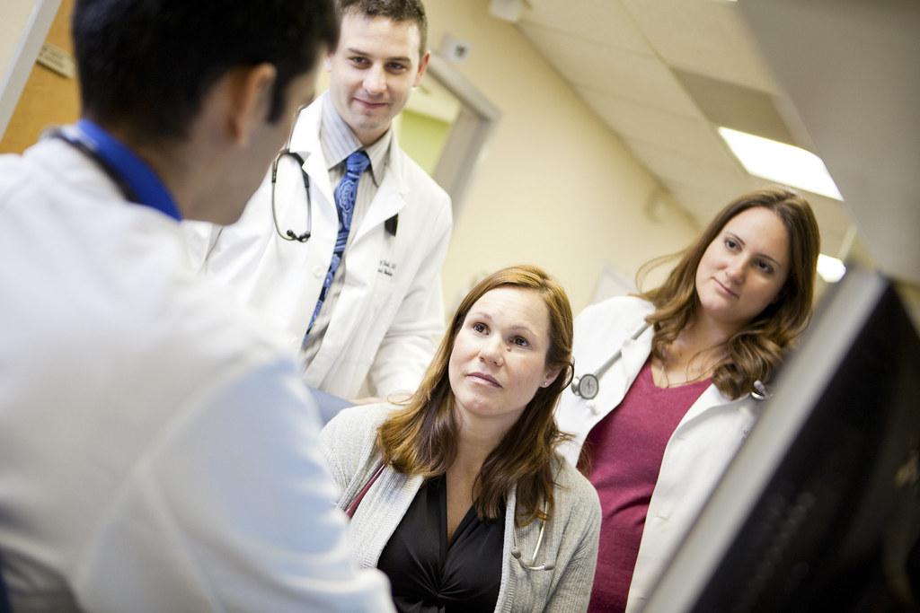 Medical graduate choosing options