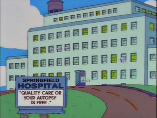 Hospital Sign: Free Autopsy