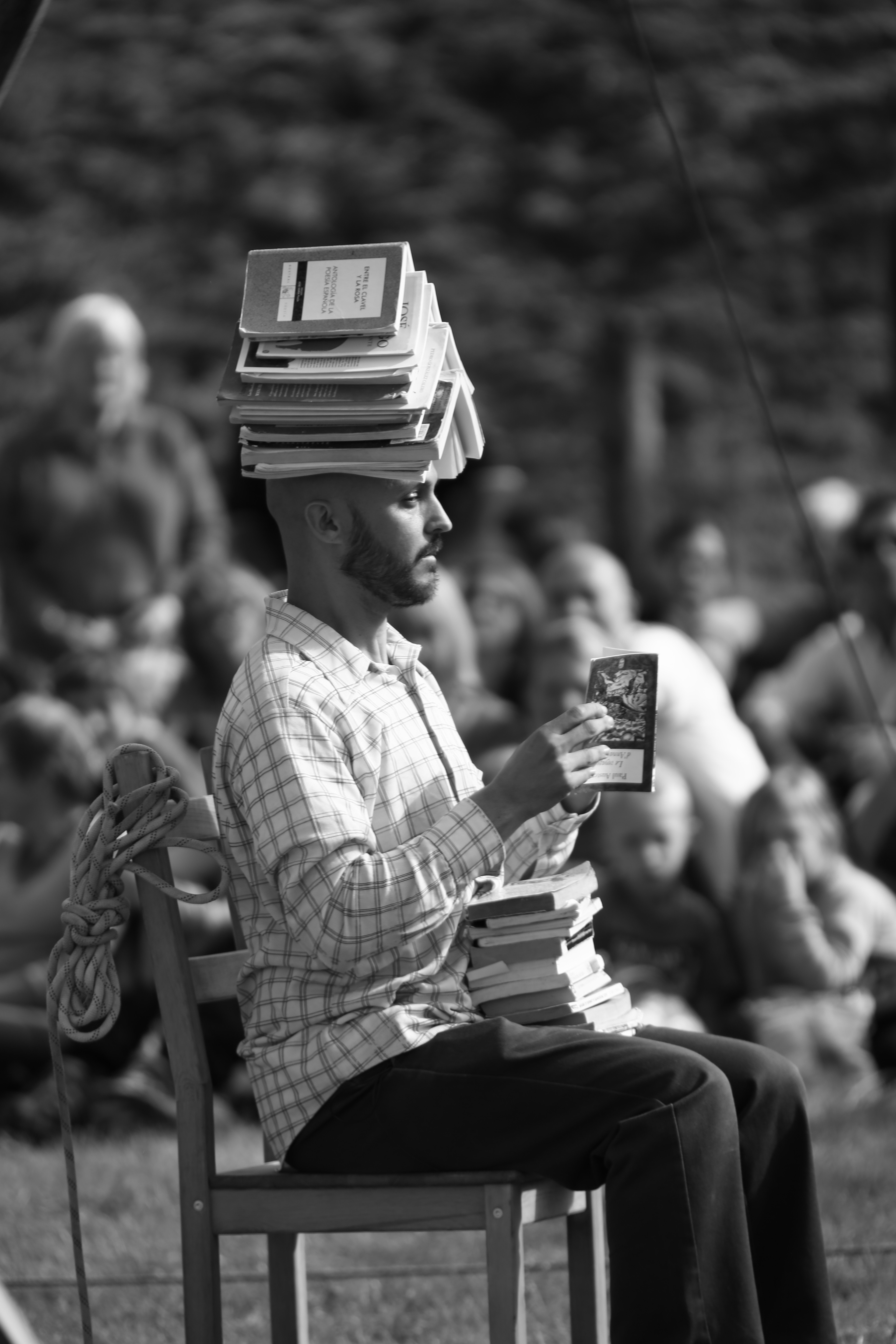 Balancing a Book Pile on Your Head