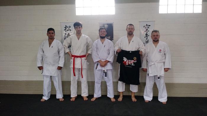 Prof. Gian, do Hapkido Um Yang Kwan, primeiro à direita