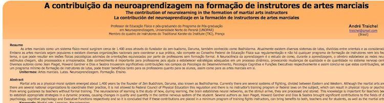 A contribuição da neuroaprendizagem na formação de instrutores de artes marciais