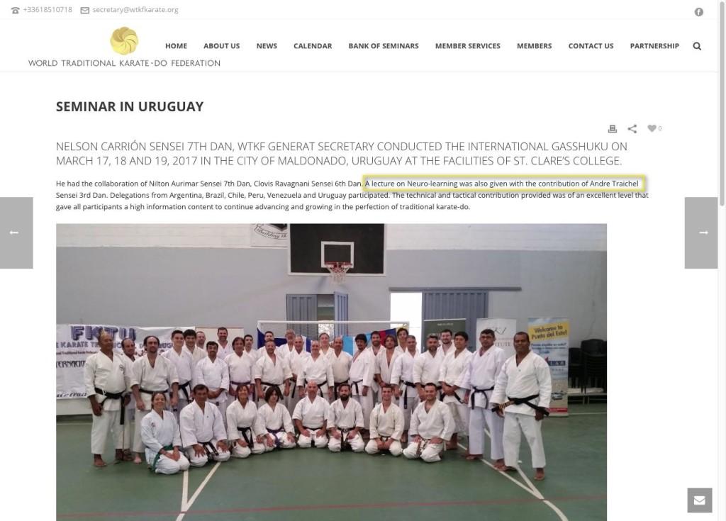 World Traditional Karate-Do Federation – Seminar in Uruguay