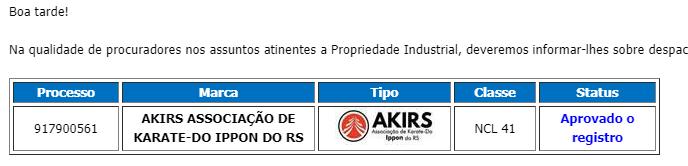 marca registrada da AKIRS