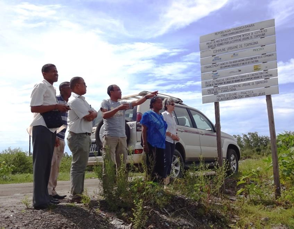 Treatment plant construction - Ministry of Water field visit