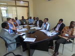 Partners discuss project with RVO representative