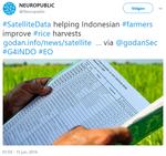 Satellite Data helping Indonesian farmers improve rice harvests (2016, Tweet)