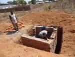 Building VIP latrines