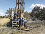Drilling borehole Nyanje school