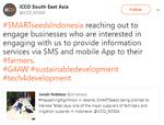 SMARTseedsIndonesia reaching out to engage business (2018, Tweet)
