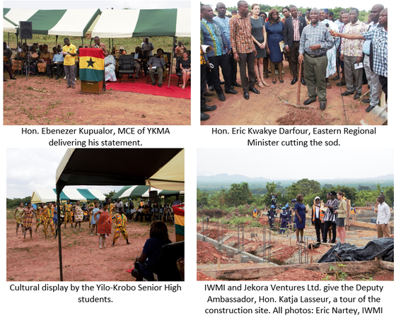 Sod-cutting ceremony to mark the construction of CapVal Project Briquette and Co
