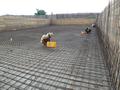Treatment plant construction - Start of the construction of concrete bassins