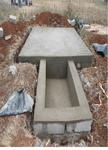 Construction of Hurr hills tank foundation.