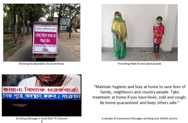 Awareness Messages on Corona virus at Bhola, Bangladesh