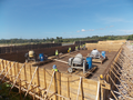 Treatment plant construction - Preparation before pouring of concrete