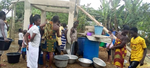 At Kofikrom, about 380 people get access to clean and safe drinking water.