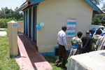 Commissioning of the Flush Pit latrines of Kamolo water scheme