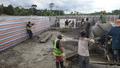 Treatment plant construction - Filter n°1 Pouring of concrete