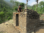 Toilet construction in Phurkedanda