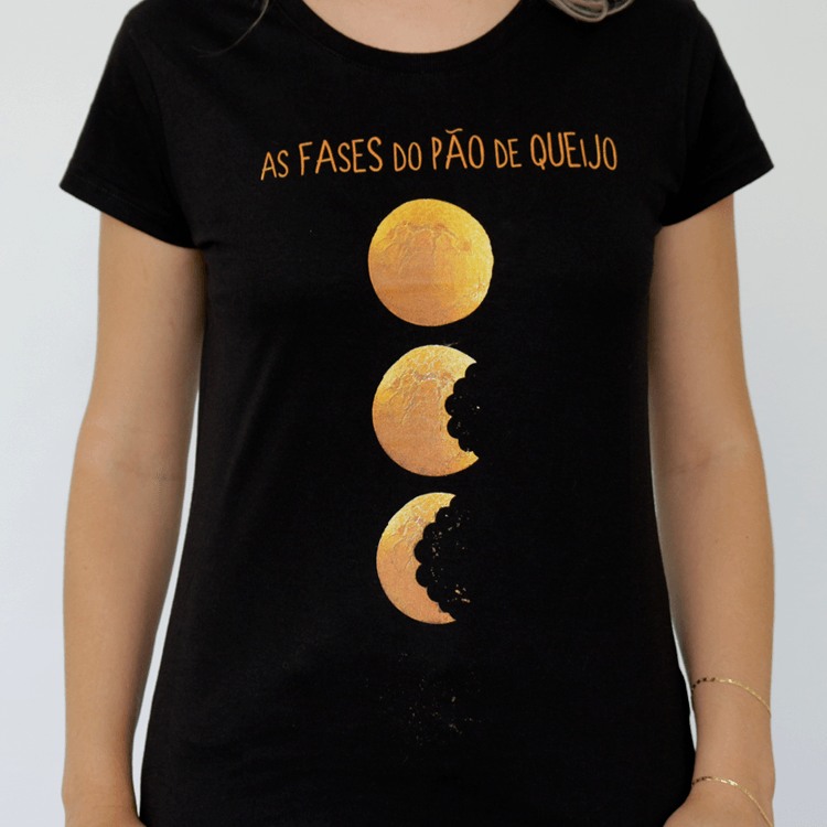 Camiseta Feminina As Fases do Pão de Queijo