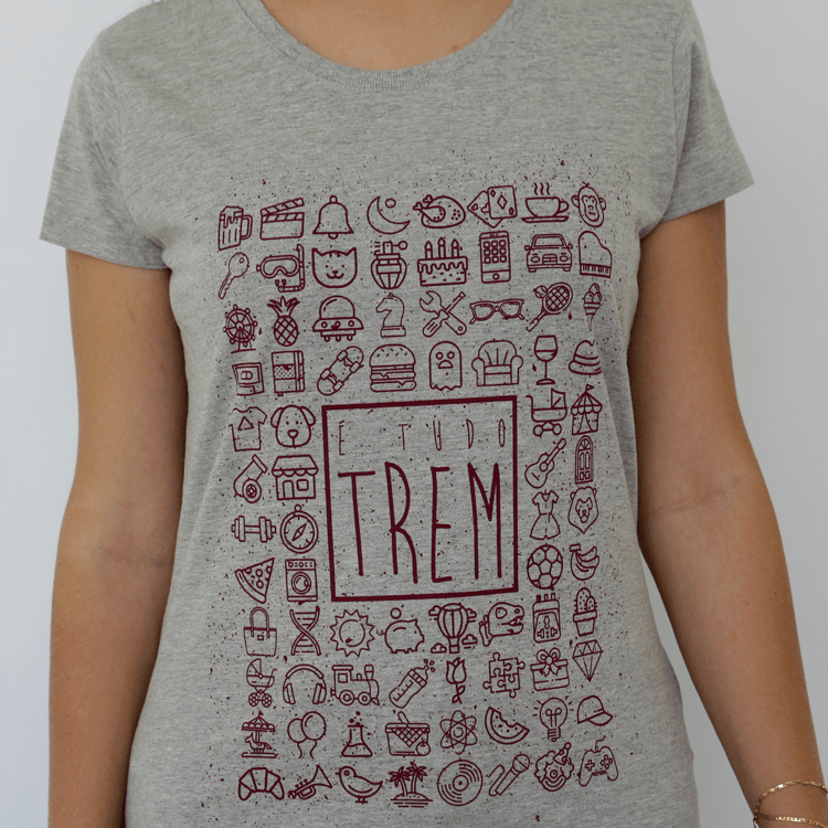 Camiseta Feminina É Tudo Trem