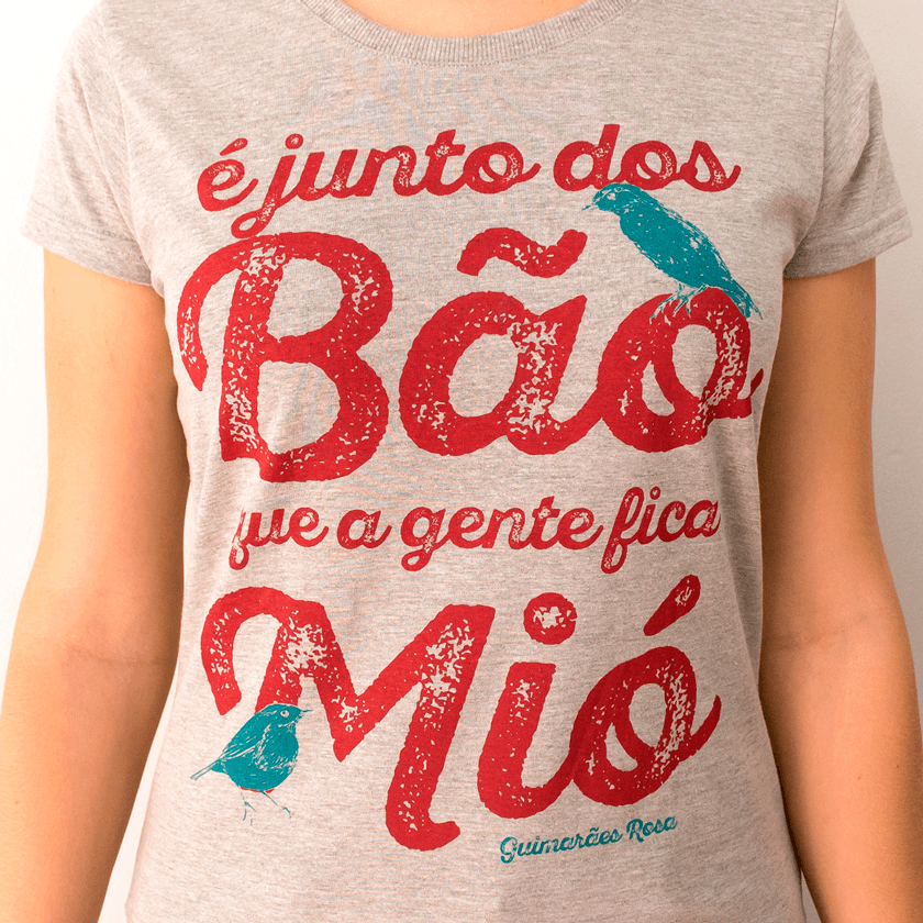 Camiseta Feminina Junto dos Bão