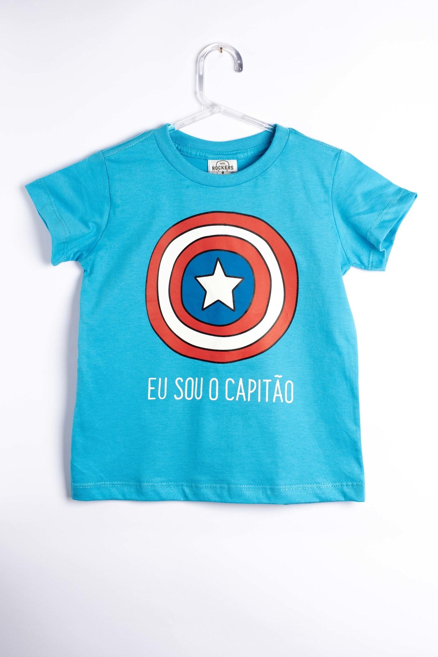 Camiseta Eu Sou o Capitão - Mini Rockers