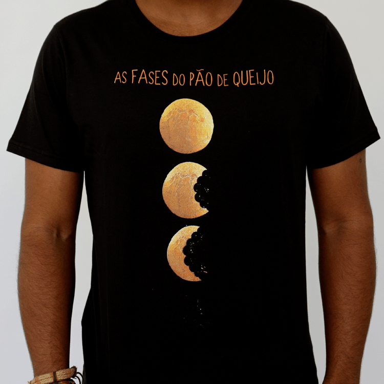 Camiseta Masculina As Fases do Pão de Queijo